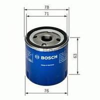 Фильтр масляный Dacia Logan Дачия Логан 1.5 dci BOSCH (БОШ)
