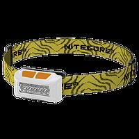 Фонарь налобный Nitecore NU10 (4xLED + RED LED, 160 люмен, 4 режимов, USB), белый