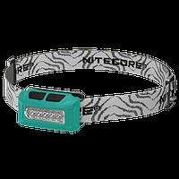 Фонарь налобный Nitecore NU10 (4xLED + RED LED, 160 люмен, 4 режимов, USB), зеленый, фото 1
