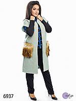 """Пальто женское из букле больших размеров """"Трансформер"""""""