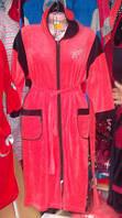 Стильный женский велюровый халат больших размеров