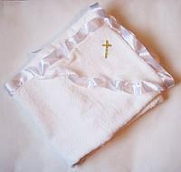Крыжма для крещения 100х100 махровая с капюшоном (уголком)