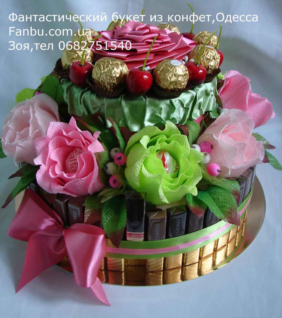 Поздравление из конфет и шоколада фото 191