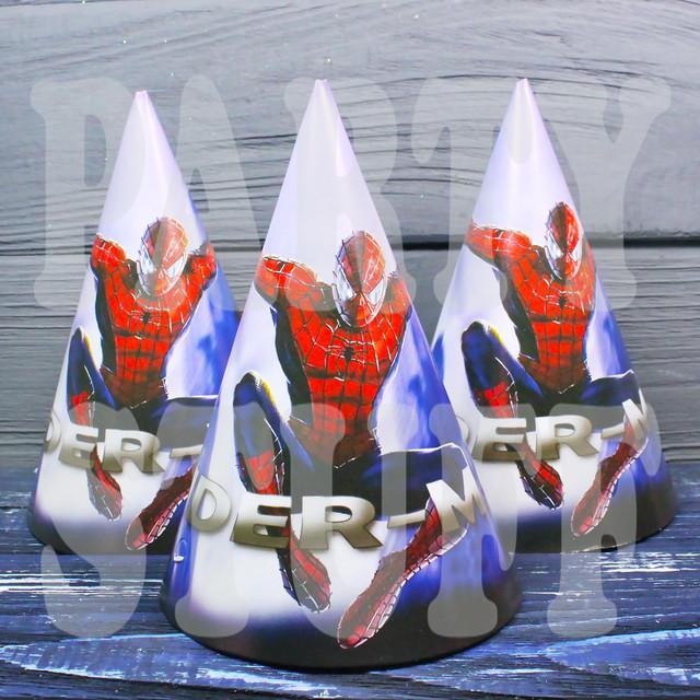 колпачки на праздник Человек Паук
