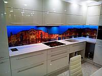 Фартук для кухни с фотопечатью из стекла