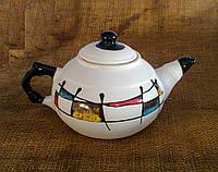"Чайник 600 мл., декор ""Галаретка"" кольорова"