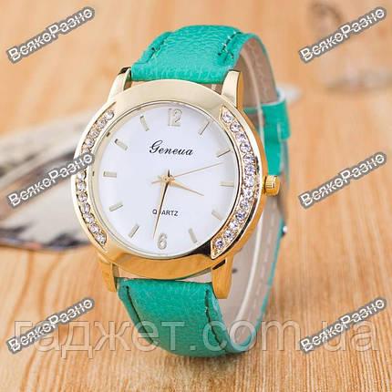 Женские часы Geneva Relojes Mujer мятного цвета., фото 2