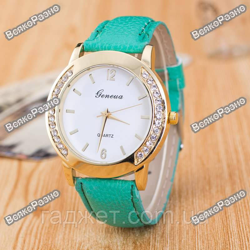Женские часы Geneva Relojes Mujer мятного цвета.
