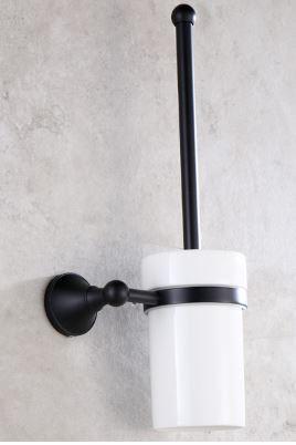 Ершик щетка черный для унитаза настенный подвесной