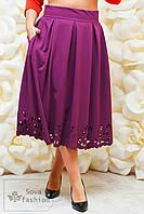 Женская юбка миди с карманами большого размера