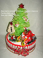 """Новогодний конфетный подарок """"Праздник возле елки"""""""