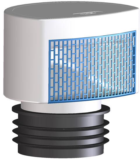 Вентиляционный клапан Hutterer & Lechner DN75/110 с двойной теплоизолированной стенкой и многоязычковой уплотнительной прокладкой HL901