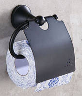 Настенный (подвесной) черный держатель для туалетной бумаги 0262, фото 1