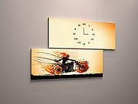Модульная картина настенные часы холст