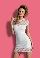 Сексуальное нижнее белье женское Obsessive Dressita white, фото 1