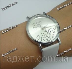 Женские часы Да какая разница белого цвета., фото 2
