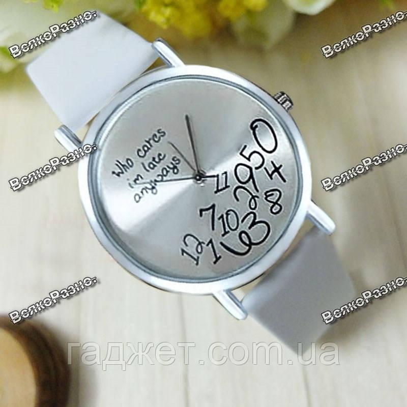 Женские часы Да какая разница белого цвета.
