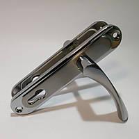Ручка на планке для входных дверей APOLLO 85.323  SN/CP (матовый никель)