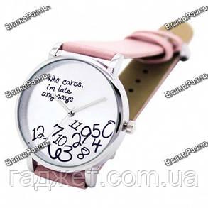 Новинка!!! Женские часы Да какая разница розового цвета., фото 2
