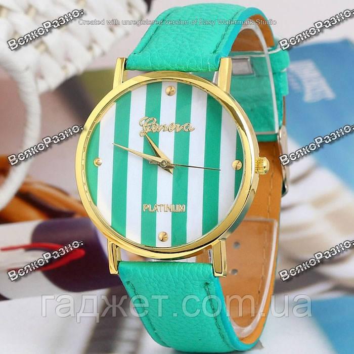 Женские часы Geneva Platinum мятного цвета