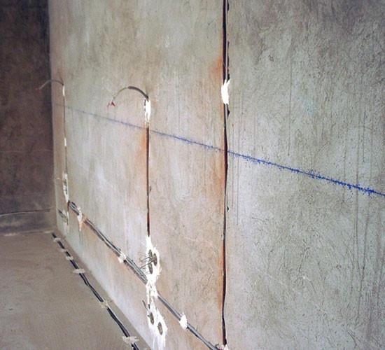 Электрик. Штроба стен под проводку, бетон ( штробление )