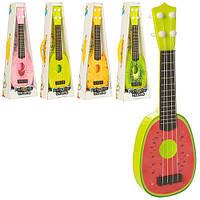 Гитара 77-06B1-2-3-4-5 (120шт) струны, 5 видов(фрукты), в кор-ке, 15-40,5-5см