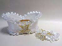 Свадебная корзинка для шампанского белый