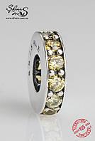 """Серебряная подвеска-шарм Пандора (Pandora) """"Желтое колечко"""" для браслета"""