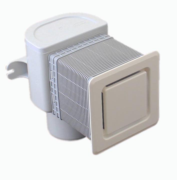 Воздушный клапан для скрытого монтажа Hutterer & Lechner DN50/75 в комплекте с монтажной заглушкой и крышкой HL905
