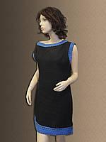 Лляна сукня-туніка в українському стилі. Льняное платье-туника.