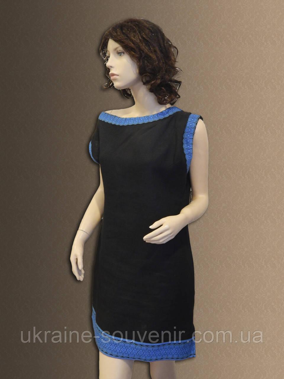 Лляна сукня-туніка в українському стилі. Льняное платье-туника. f2faf76b84f32