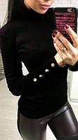 Гольф женский Марси черный , свитера женские