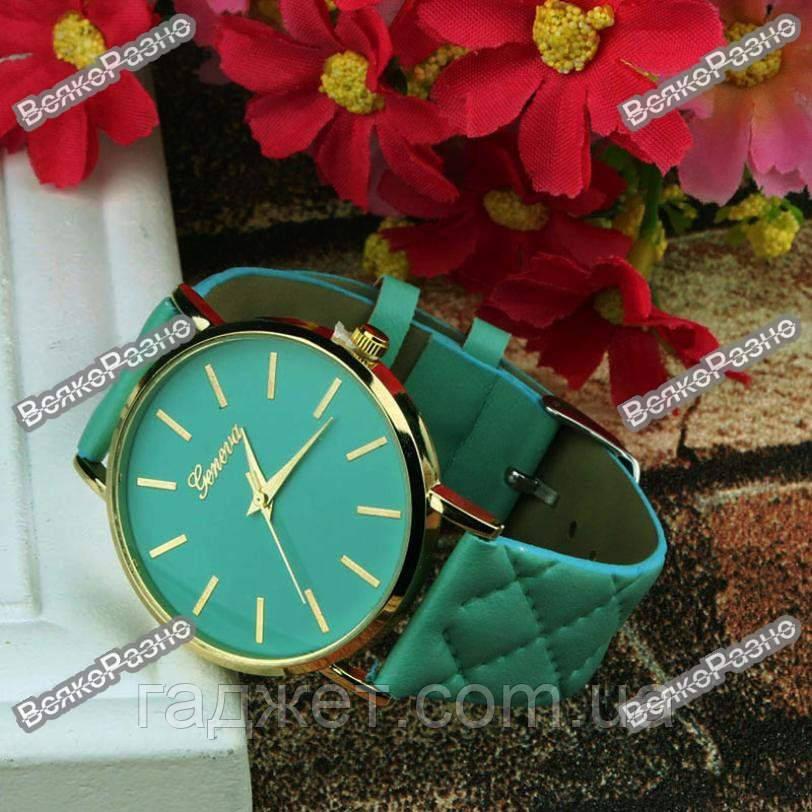Стильные женские часы Geneva мятного цвета