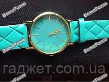 Стильные женские часы Geneva мятного цвета, фото 2