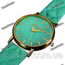Стильные женские часы Geneva мятного цвета, фото 3