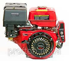 Двигун бензиновий WEIMA WM190FЕ-L (16р.з., шпонка Ø25мм, L=60 мм, редуктор, ел.старт)