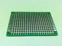 Макетная плата двухсторонняя 4x6 см, с металлизацией