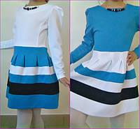 Нарядное детское платье трикотаж лакоста
