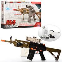 Автомат SB213 (9шт) 74см, аккум, водяные пули,2режима стрельбы,USBзарядн,очки,в кор-ке,59-32-9см