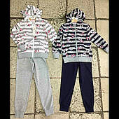Спортивні трикотажні дитячі костюми на дівчинку оптом F&D