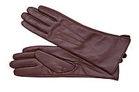 Перчатки кожаные женские коричневые