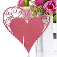 Декор для бокала — рассадочная карточка «Сердце»