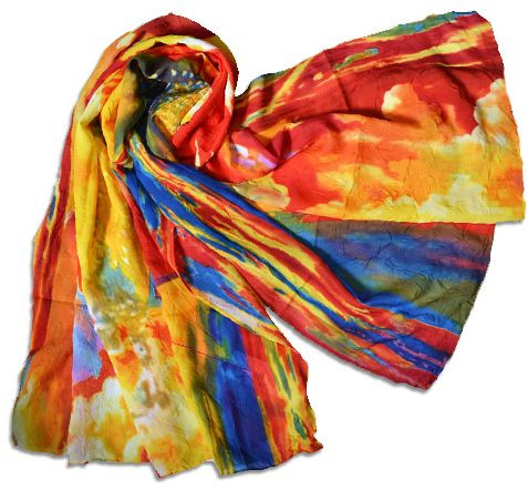 Женский шарф-парео 140 на 120 dress #41_3 разноцветный