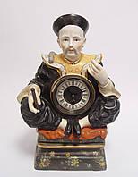 Фарфоровая статуетка часы конфуций