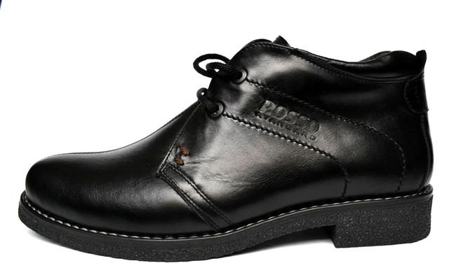 Классические зимние мужские ботинки дезерты Rosso Avangard. Carlo Pa черные