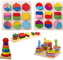 Пирамидки, сортеры, геометрики