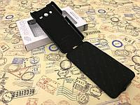 Кожаный чехол (флип) Melkco для Samsung G355 Galaxy Core 2 чёрный
