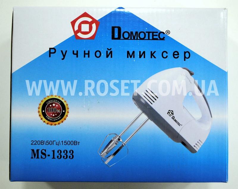 Ручной миксер - Domotec MS-1333 180W (насадки для взбивания и для замеса теста) - Интернет-магазин «Росет» в Киеве