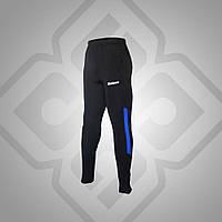 Спортивные брюки зауженные BestTeam TP-11515 (черные с голубым)