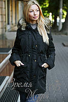 Куртка - парка на меху. Чёрная. 4 цвета. Р-ры: S,M,L,ХL,ХХL. 8063